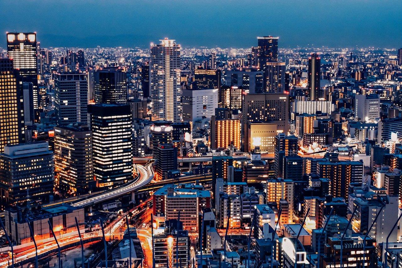 city, buildings, night